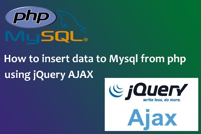 How to insert data to MySql from PHP using jQuery AJAX2