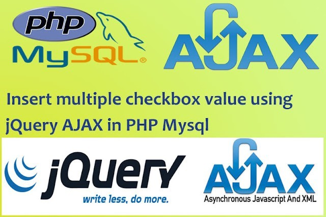 Read more about the article Insert multiple checkbox value using jQuery AJAX in PHP MySql