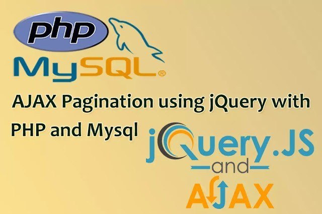 Ajax Pagination using jQuery with PHP and MySQL