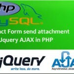 Contact form send attachment using jquery ajax in PHP