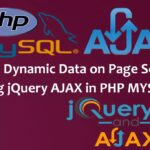 Load Dynamic Data on Page Scroll using jquery AJAX in PHP MYSQL