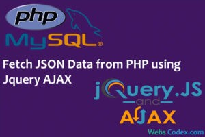 How to Fetch JSON Data in Dropdown from PHP Script using jQuery Ajax