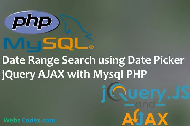 Read more about the article Filter or Search with Date Range using jQuery AJAX Date Picker with PHP Mysql