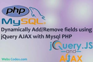 Dynamically Add / Remove input fields in PHP with Jquery Ajax, PHP - Dynamically Add Remove input fields using JQuery Ajax Example with Demo, Hello Friends this tutorial is relating to dynamically insert or delete  input html fields using Jquery Ajax with PHP MySql. User can insert more than one data at the same time. User can Add bulk data at same time. Data will be inserted with out page refresh because we use ajax function call for insert data. User can add more fields by clicking on add more button then new textbox will be appear on webpage with remove button. If user want to remove some field then it can be remove input fields on click on remove button. Now a days this functionality is very useful in web application. system, software